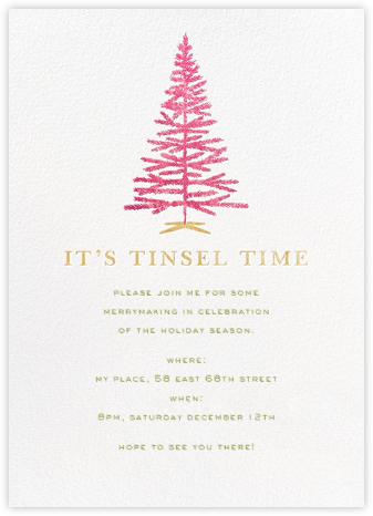 Tinsel Time - kate spade new york - Kate Spade invitations, save the dates, and cards
