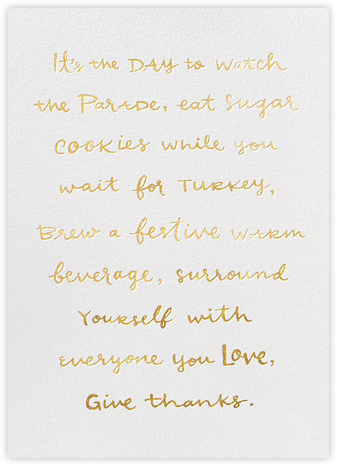 Thanksgiving To-Do - kate spade new york - Thanksgiving Cards