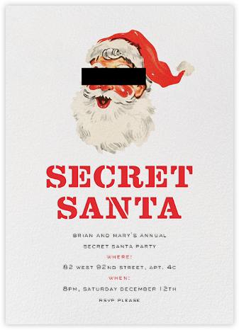 Incognito Christmas  - kate spade new york - Online Party Invitations