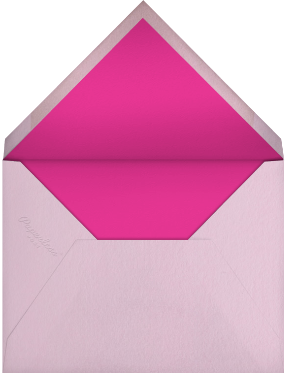 First Look - Pink - Paperless Post - Birth - envelope back