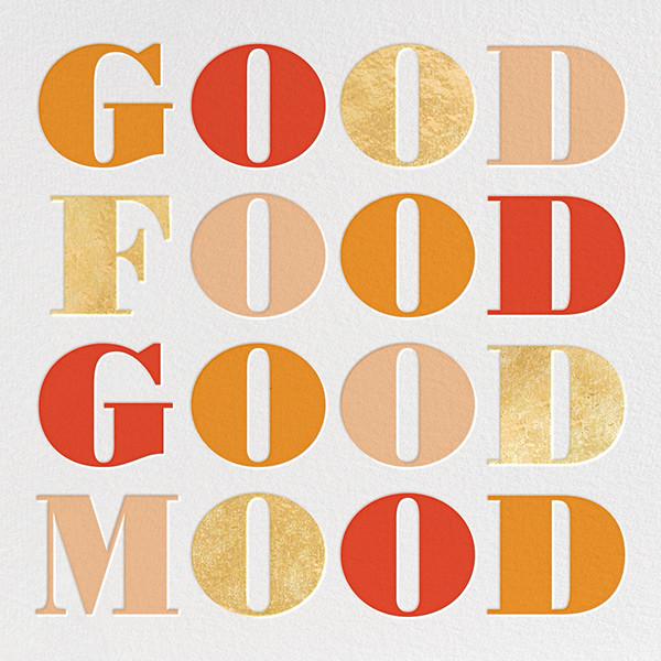 Good Food Good Mood - kate spade new york - Thanksgiving invitations