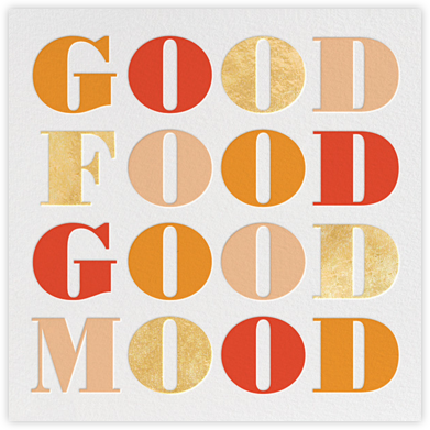 Good Food Good Mood - kate spade new york - Kate Spade invitations, save the dates, and cards
