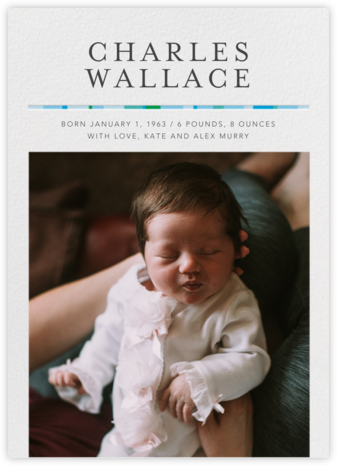 Kindred - Blue - Paperless Post - Birth Announcements
