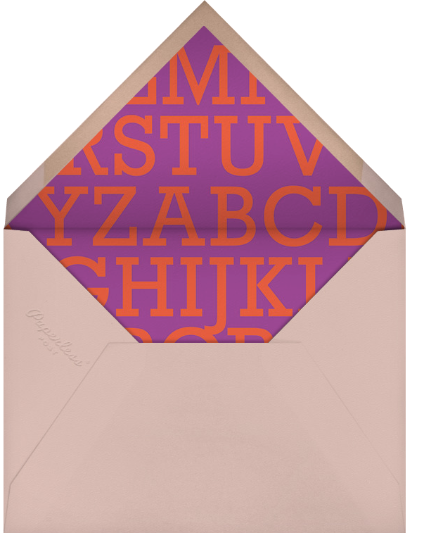 Picture Book - Pink - Paperless Post - Birth - envelope back