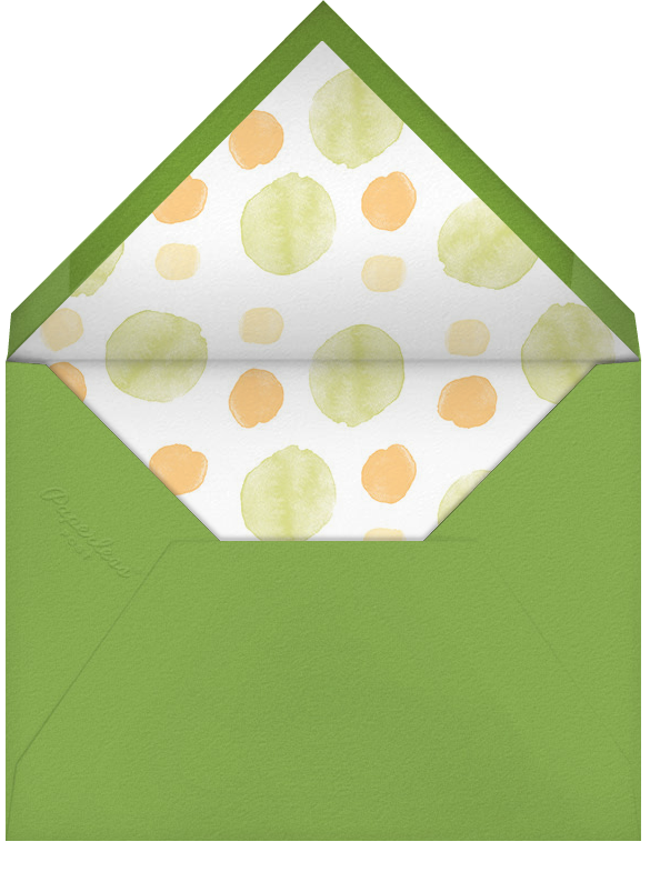 Shake, Rattle, and Roll - Green - Paperless Post - Birth - envelope back