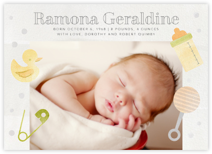 Shake, Rattle, and Roll - Green - Paperless Post - Birth Announcements