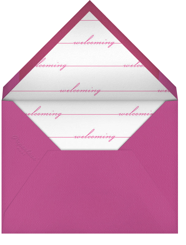 Welcome Home (Photo) - Pink - Paperless Post - Envelope