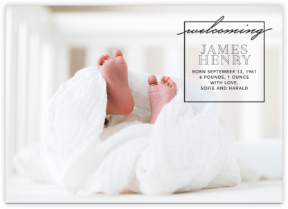 Welcome Window - Black - Paperless Post - Birth Announcements
