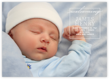 Welcome Window - White - Paperless Post - Birth Announcements