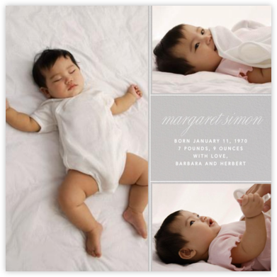 Album - Gray - Paperless Post - Birth Announcements