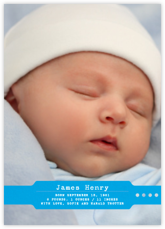 Home from the Hospital - Blue - Paperless Post - Birth Announcements