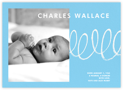 Our Little Squiggle - Blue - Paperless Post - Birth Announcements