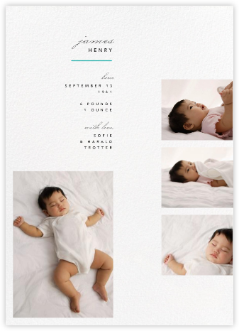 Highlights - Blue - Paperless Post - Birth Announcements