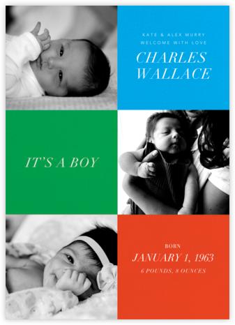 Baby Blocks Boy - Paperless Post -