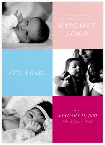 Baby Blocks Girl - Paperless Post - Birth Announcements