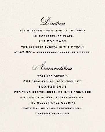 City Lights II (Invitation) - Cream/Black - kate spade new york - All - insert front