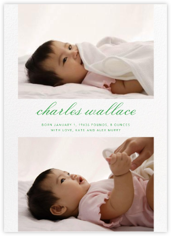 Double Take - Paperless Post - Birth Announcements