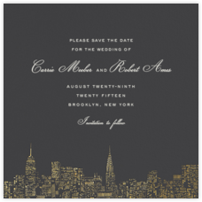 City Lights II (Save the Date) - Slate/Gold