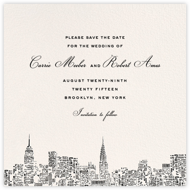 City Lights II (Save the Date) - Cream/Black | null