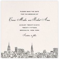 City Lights II (Save the Date) - Cream/Black