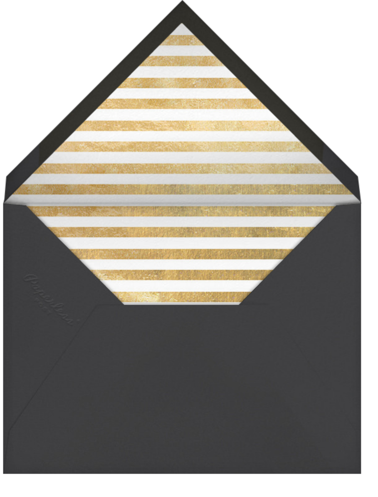 City Lights II (Stationery) - Slate/Gold - kate spade new york - Personalized stationery - envelope back