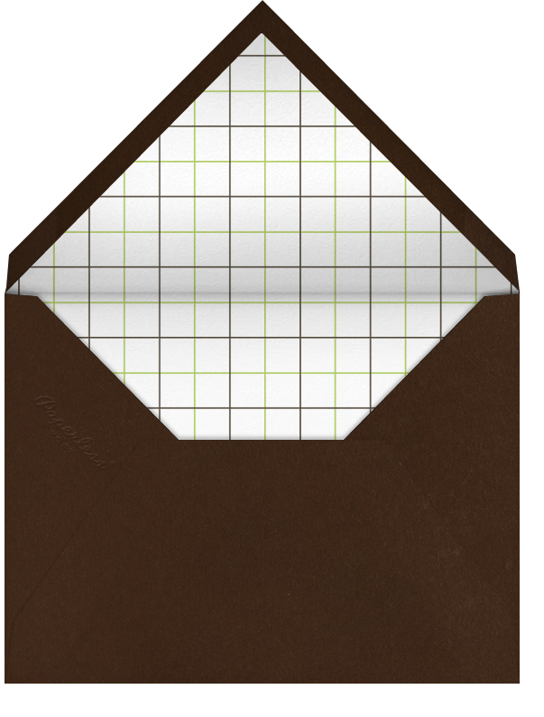 Wood Grain Light - Square (Foil) - Paperless Post - Adult birthday - envelope back