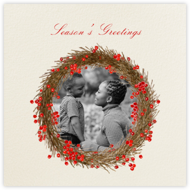 Cranberry Wreath - Felix Doolittle - Holiday Cards