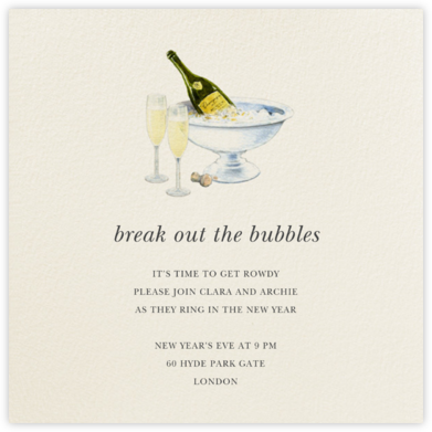 New Year's Chilling - Felix Doolittle - New Year's Eve Invitations