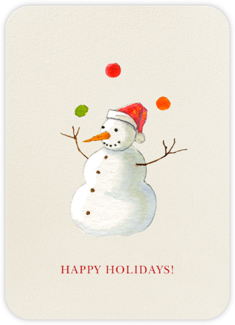Juggle All the Way - Felix Doolittle - Company holiday cards