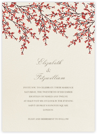 Cranberry - Felix Doolittle - Printable Invitations