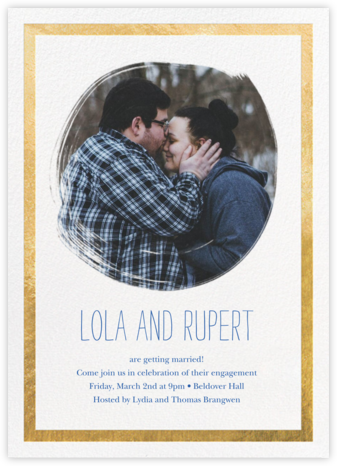 Painted Circle - Gold - Paperless Post - Engagement party invitations
