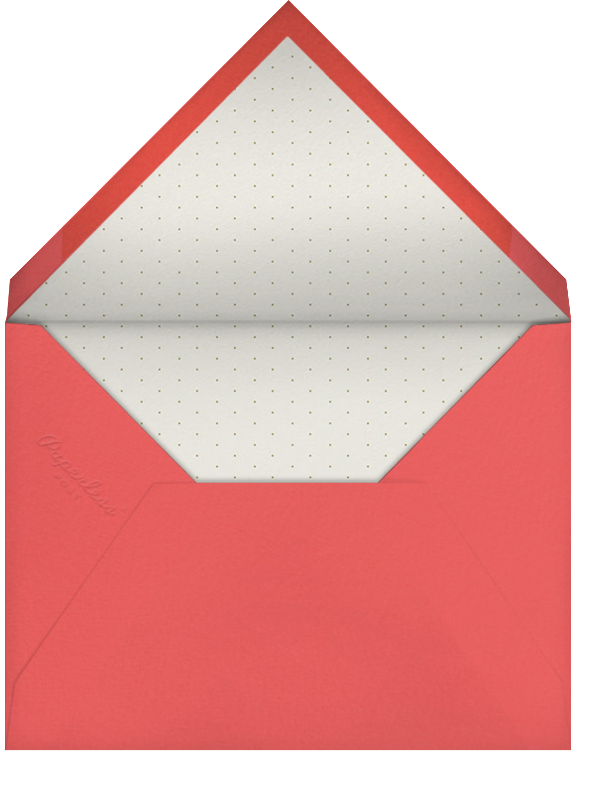 Painted Circle - Gold - Paperless Post - Engagement party - envelope back