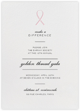 Pinned - Pink - Paperless Post - Fundraiser Invitations
