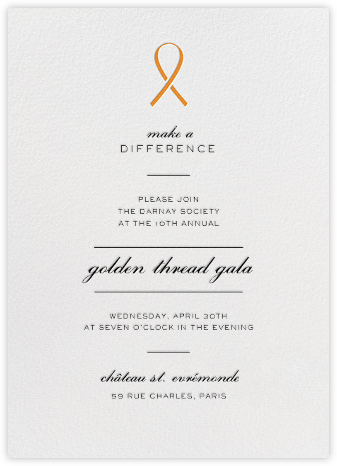 Pinned - Orange - Paperless Post - Business event invitations