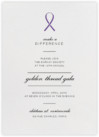 Pinned - Purple - Paperless Post - Business event invitations