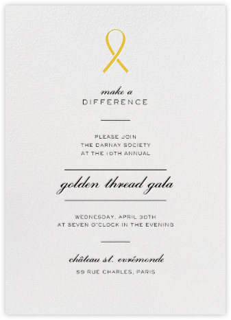 Pinned - Yellow - Paperless Post - Business event invitations