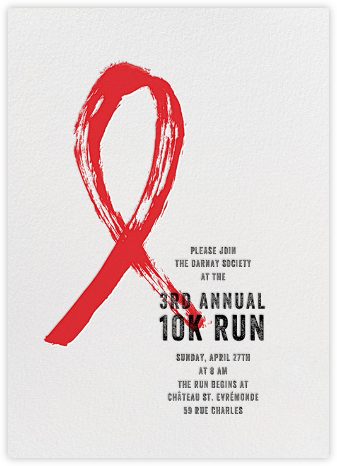 Brushstroke Ribbon - Red - Paperless Post - Charity and fundraiser invitations