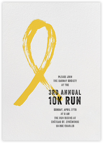Brushstroke Ribbon - Yellow - Paperless Post - Charity and fundraiser invitations