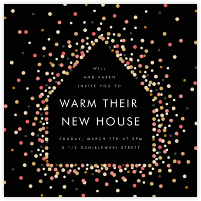 House of Sparks - Black - Paperless Post - Housewarming party invitations