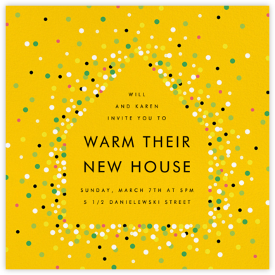 House of Sparks - Yellow - Paperless Post - Housewarming party invitations