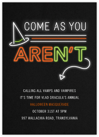 Are You or Aren't You? - Paperless Post - Halloween invitations