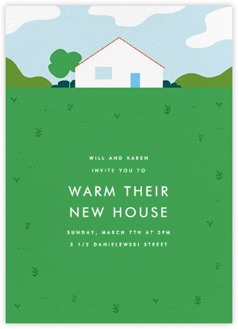 This Suburban Life - Green - Paperless Post - Housewarming party invitations