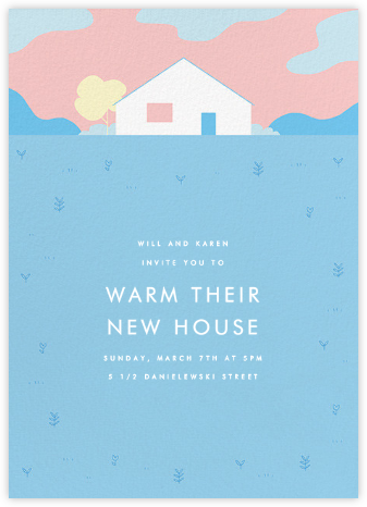 This Suburban Life - Light Blue - Paperless Post - Housewarming party invitations