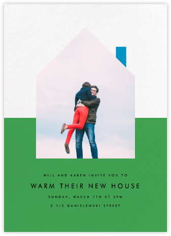 New House on the Block - Green - Paperless Post