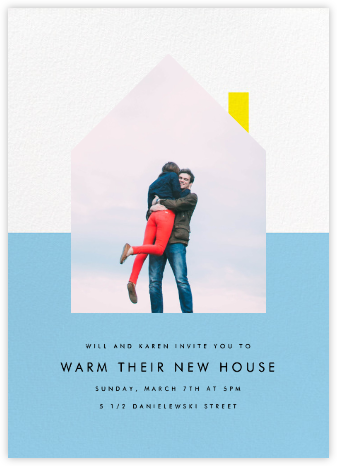 New House on the Block - Light Blue - Paperless Post - Celebration invitations
