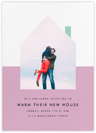 New House on the Block - Mauve - Paperless Post - Housewarming party invitations