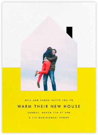 New House on the Block - Yellow - Paperless Post - Housewarming party invitations