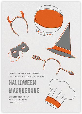 Headressed Up - Paperless Post - Halloween invitations