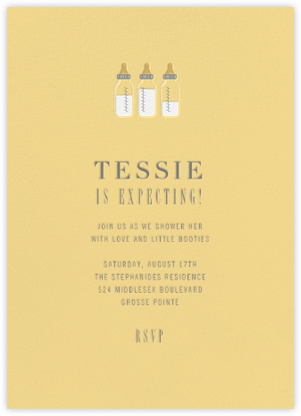 Baby Bottles - Dawn - Paperless Post - Baby Shower Invitations