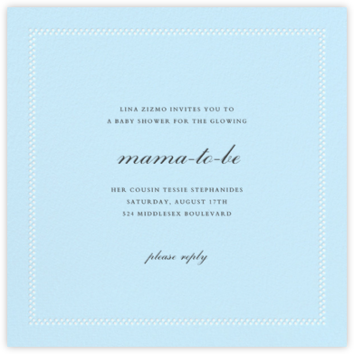 Uneven Dots - Glacier - Paperless Post - Baby shower invitations